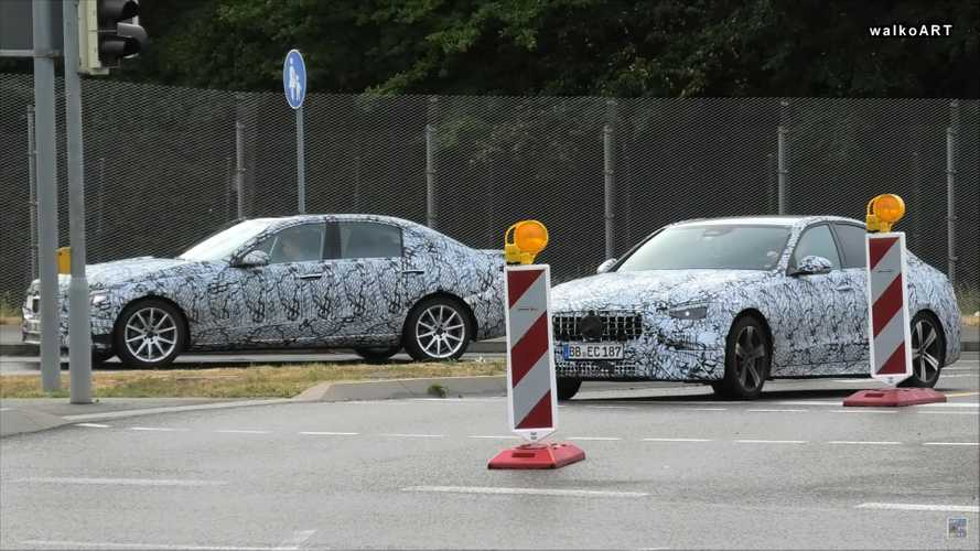 2022 Mercedes-Benz C-Class Test Fleet Spied Wearing Less Camo