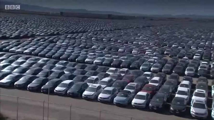 Aerial Footage Shows VW's Massive Diesel Vehicle Graveyard