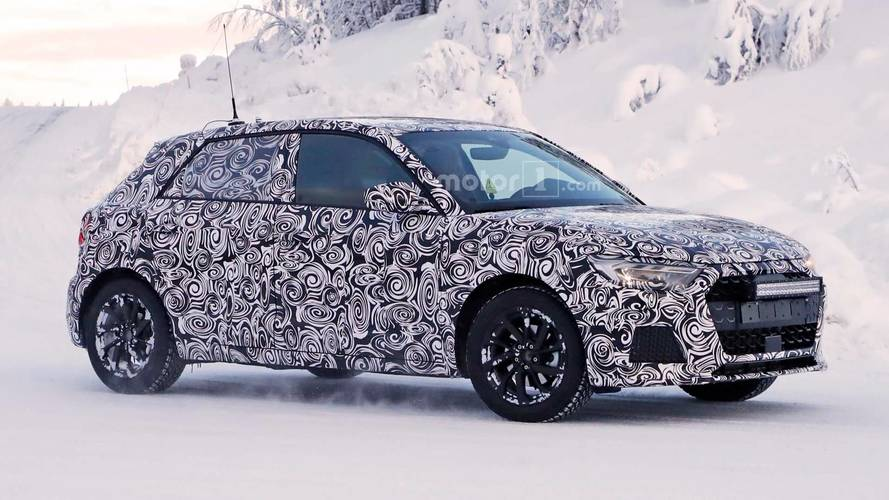 2019 Audi A1 Spied Enjoying Life In A White Winter Wonderland