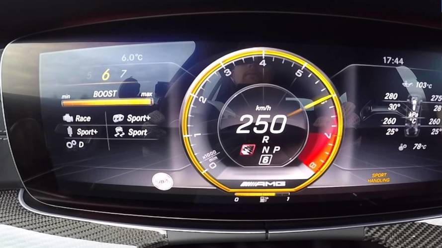 Watch The Mercedes-AMG E63 S Effortlessly Reach 155 MPH