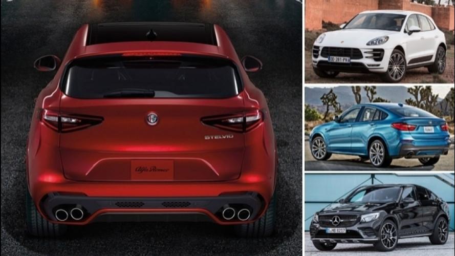 Alfa Romeo Stelvio, la Quadrifoglio e le rivali sportive