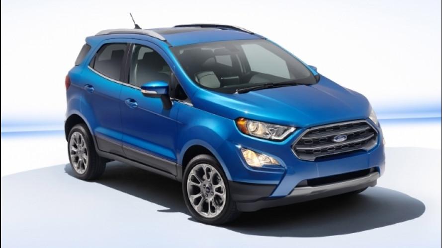 Ford EcoSport, con il restyling arriva il 2.0