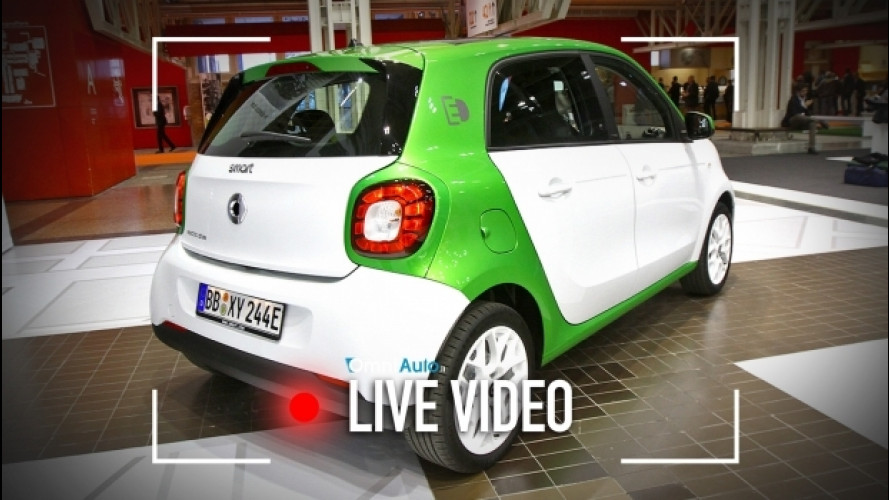 Nuova smart forfour ED, debutto italiano al Motor Show [VIDEO]
