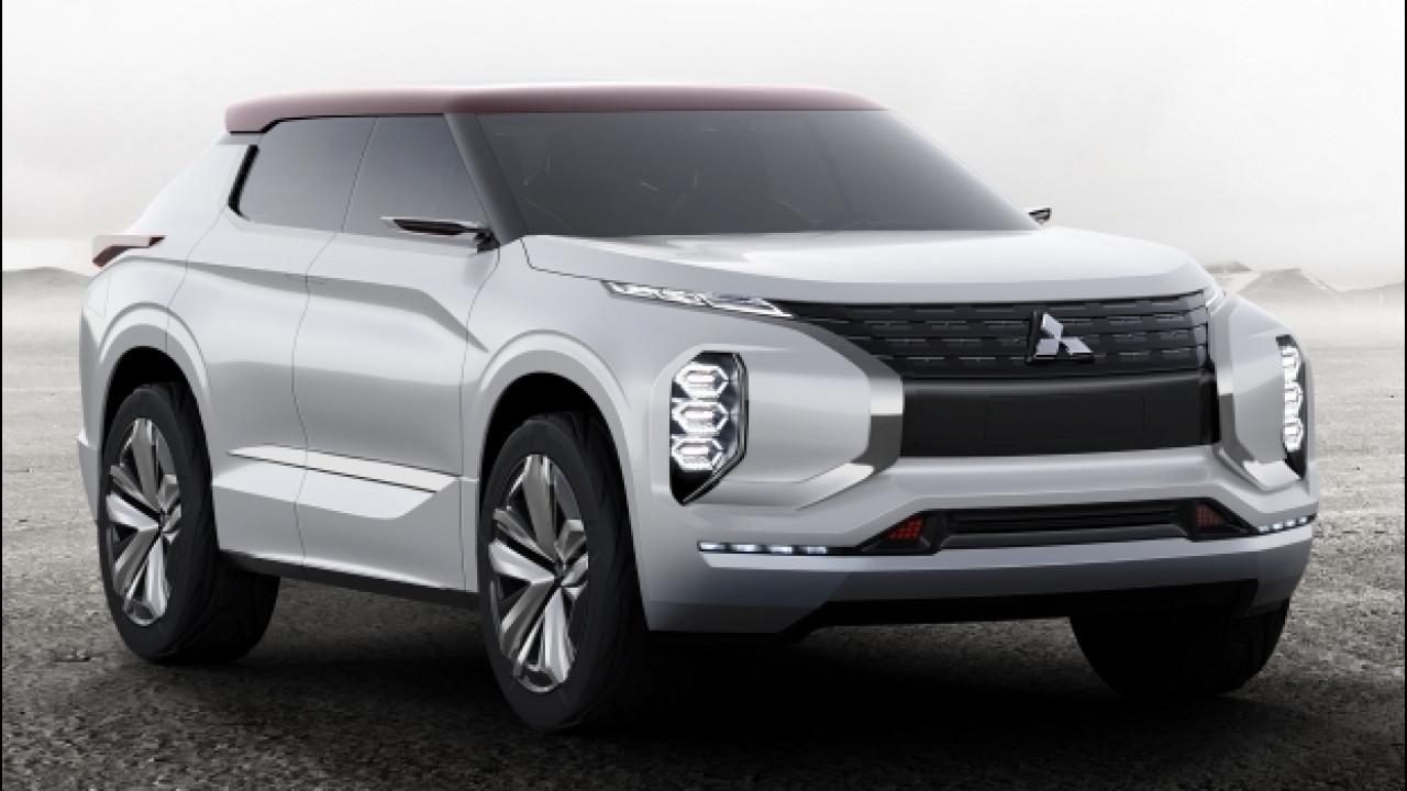 [Copertina] - Mitsubishi GT-PHEV Concept, l'ibrida con 1.200 km d'autonomia