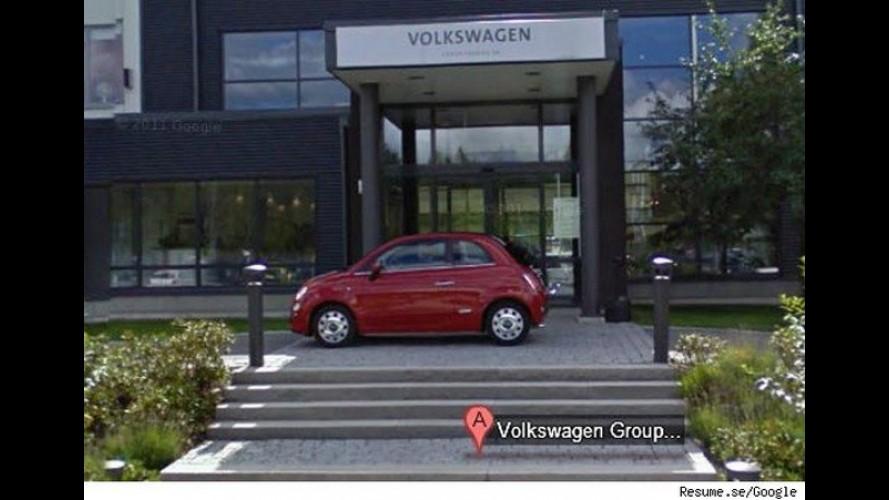 Fiat 500 aparece no Google Street em frente a sede da Volkswagen