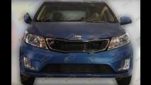 Kia K2 Hatch é flagrado sem disfarces na China