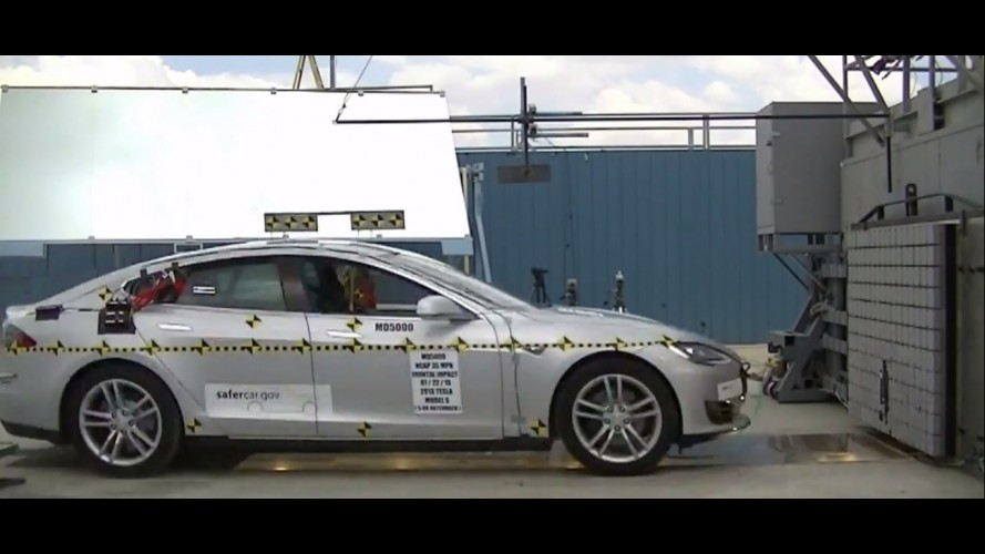 Tesla Model S consegue cinco estrelas em crash-test nos EUA