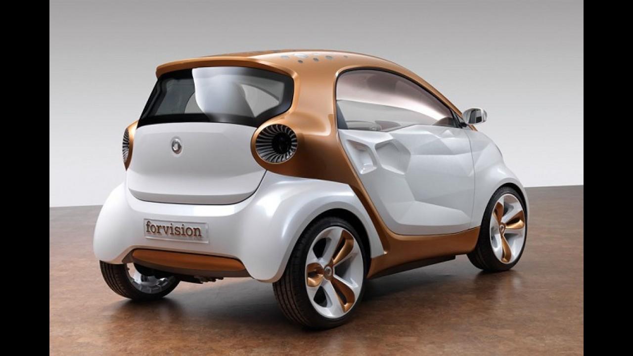 Pré-Frankfurt: Smart Forvision Concept é elétrico que antecipa linhas do próximo ForTwo