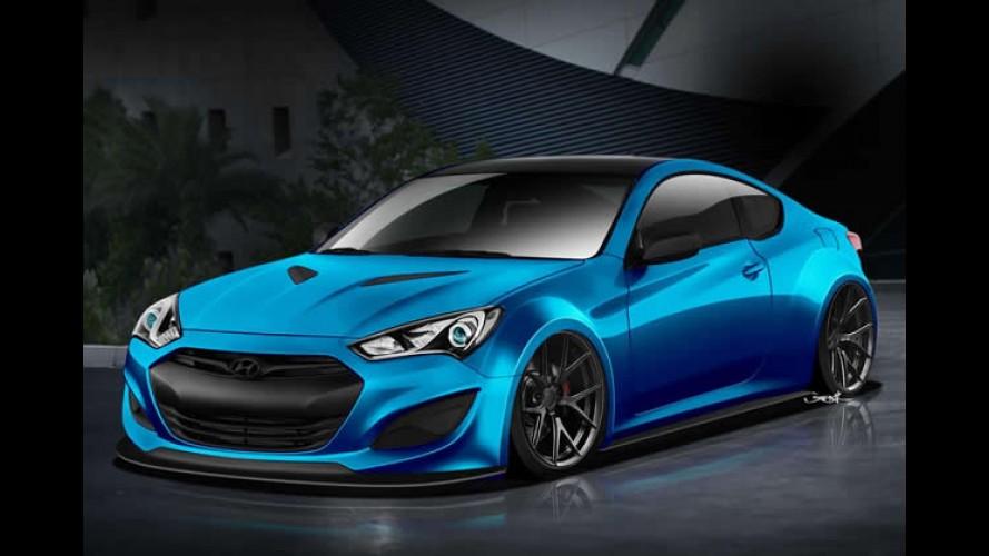 Hyundai divulga teaser do Genesis Coupé tunado para o SEMA Show