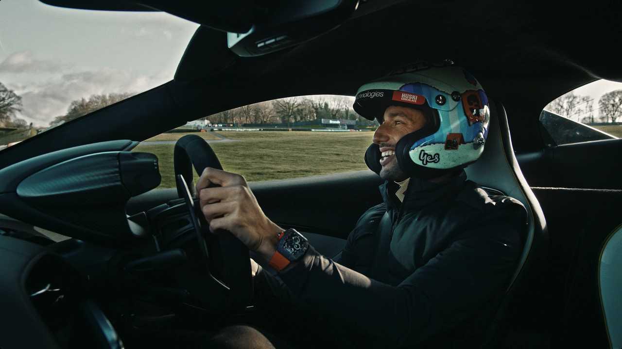 Daniel Ricciardo drives McLaren Artura
