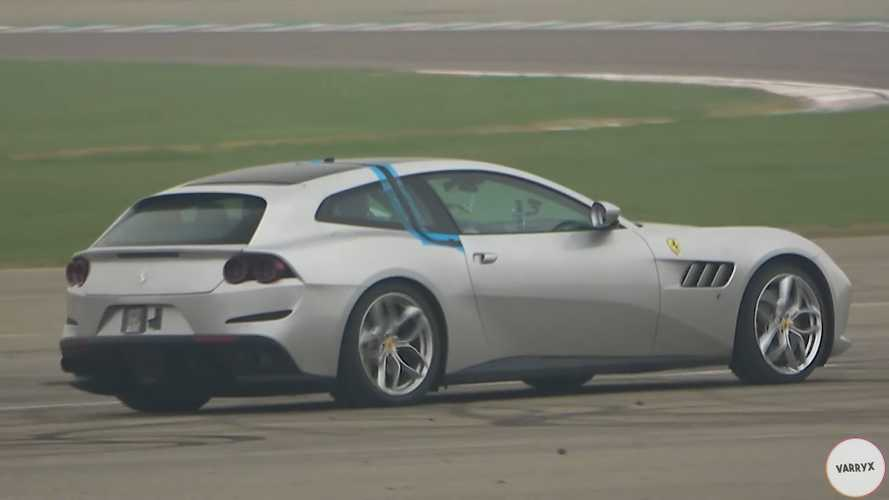 Ferrari GTC4Lusso Test Mule Spied Carrying A Heavy Burden