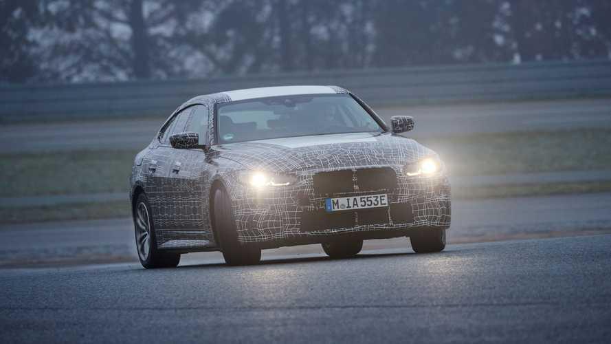 Последние испытания прототипа электромобиля BMW i4