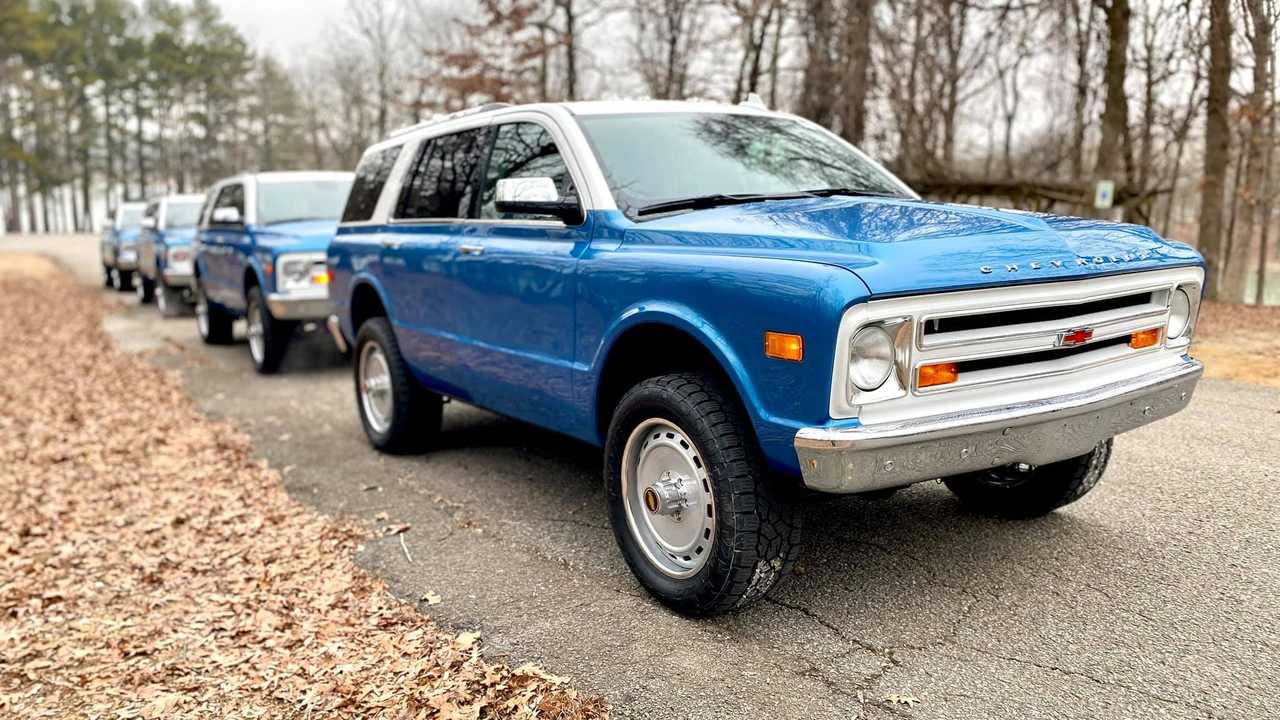 Chevrolet Tahoe Converted Into Chevy K5 Blazer Homage Group Three Quarters