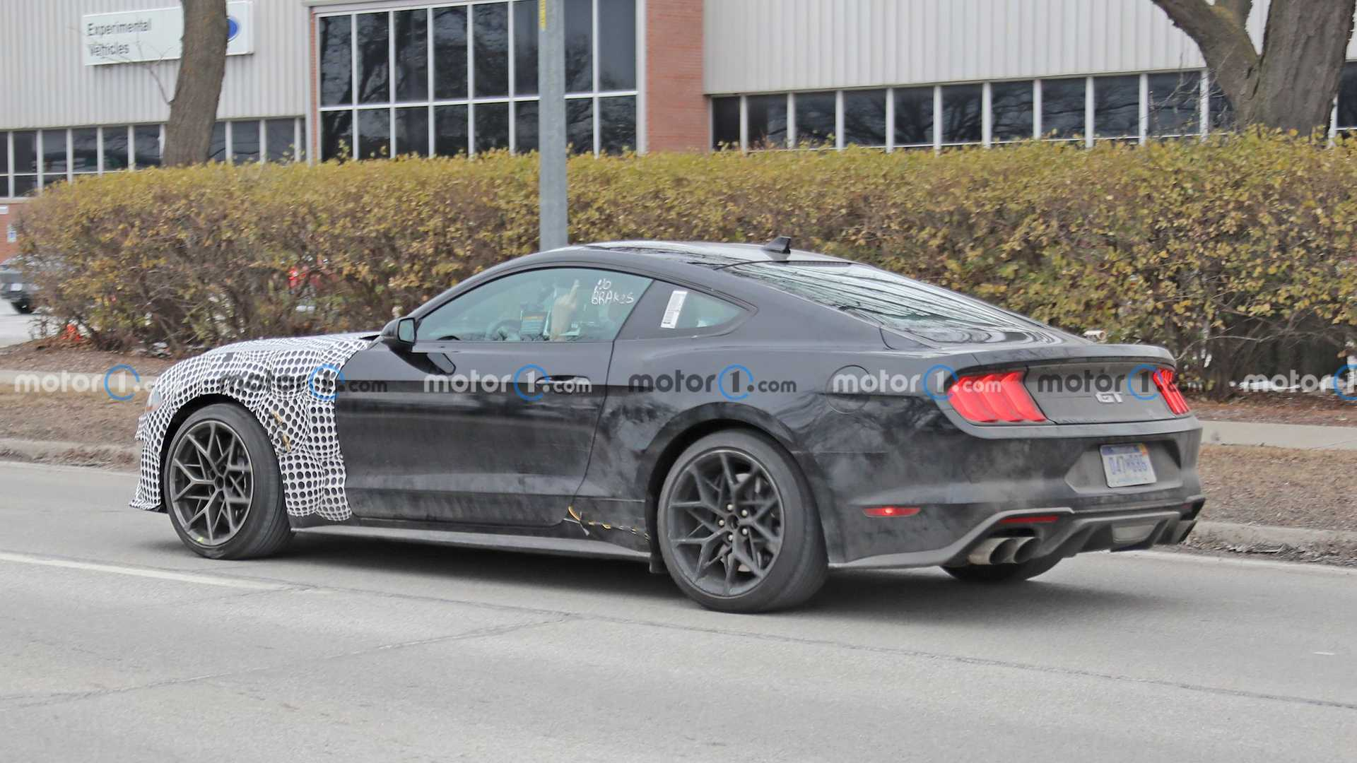 Ford Mustang AWD Test Mule Side Spy Photo