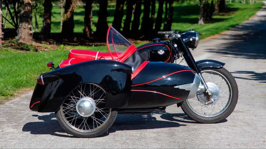 1962 Pannonia With Sidecar