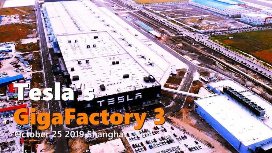 Tesla Gigafactory 3 Construction Progress October 25, 2019: Video