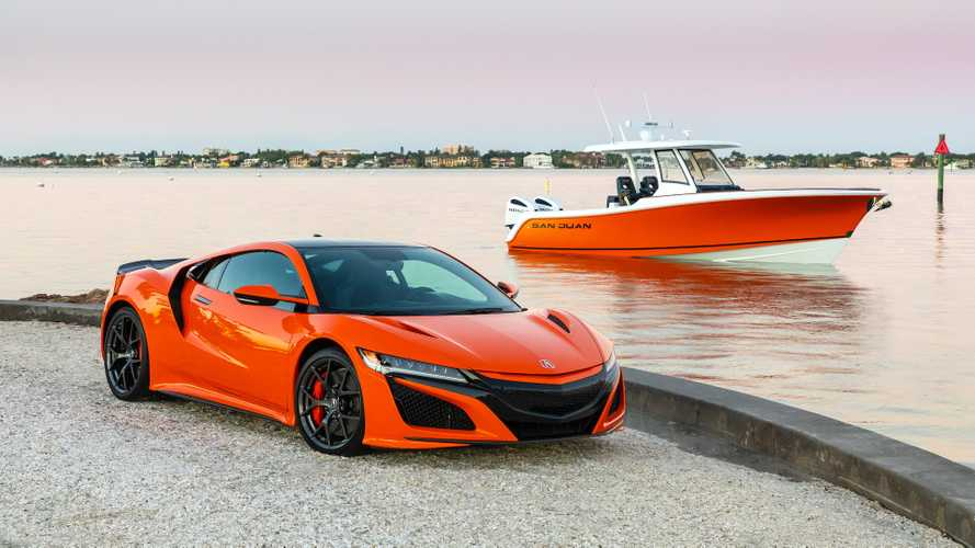 Honda Marine's new NSX-coloured boat has a wicked dashboard