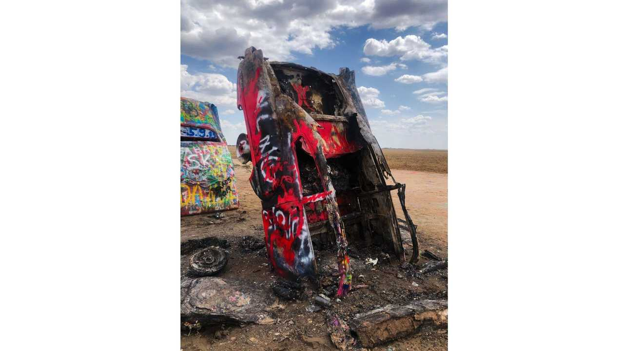 Cadillac Ranch Was A Target Of Arson