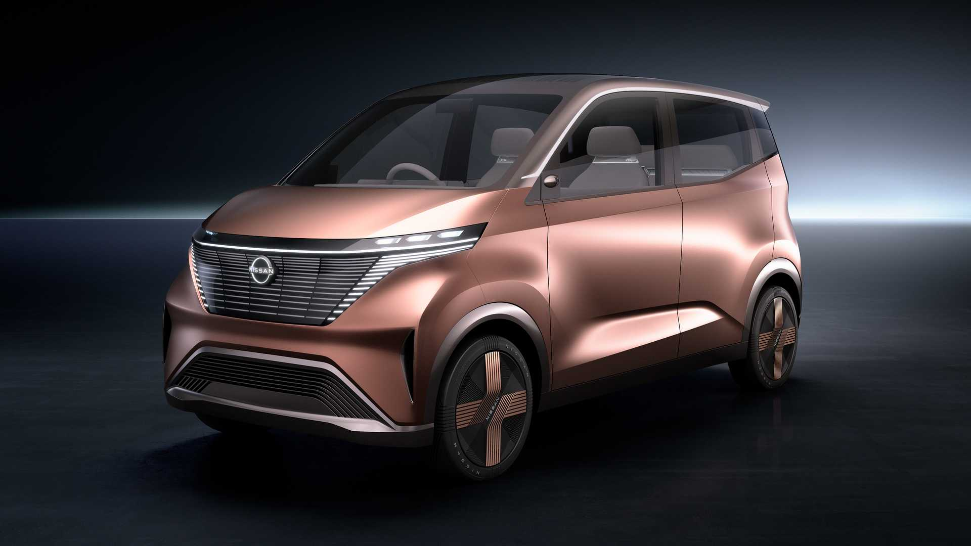 Peachy Nissan Imk Concept Unveiled As Cute City Ev With Front Bench Machost Co Dining Chair Design Ideas Machostcouk