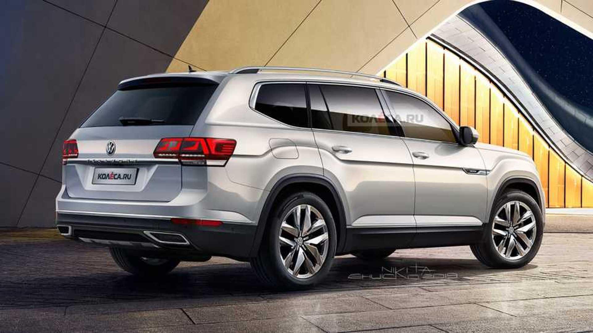 2021 VW Atlas Imagined With Subtle Facelift