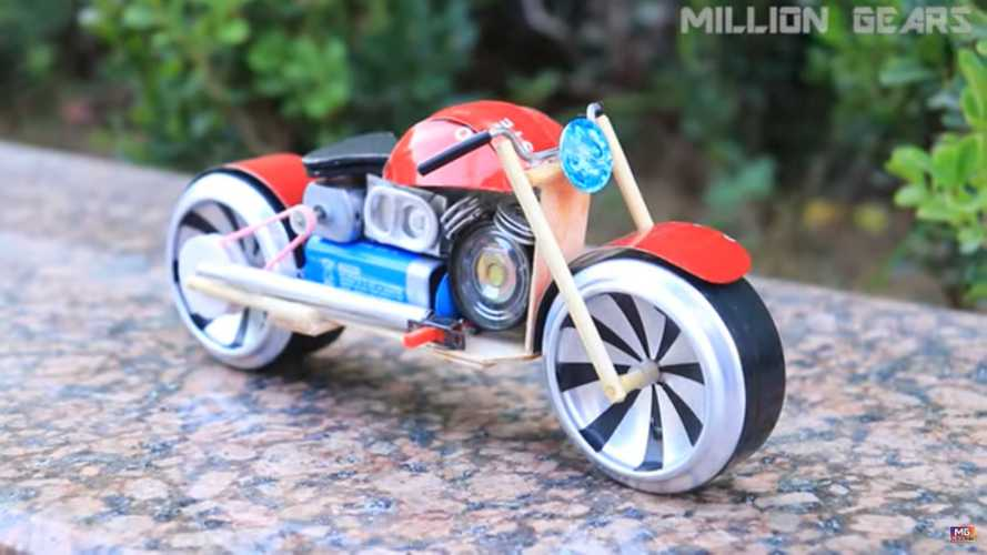 This Amazing Coke-Can Motorcycle Actually Runs!