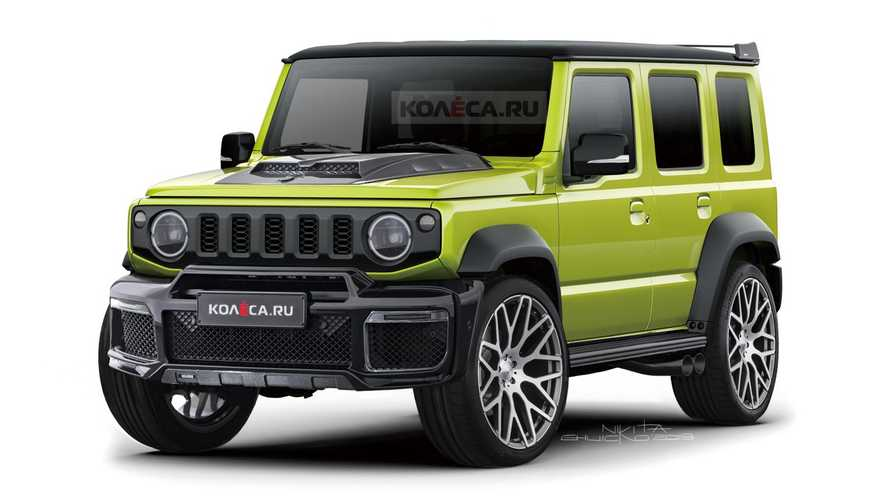 Suzuki Jimny Does Its Best AMG G63 Imitation In Wacky Rendering