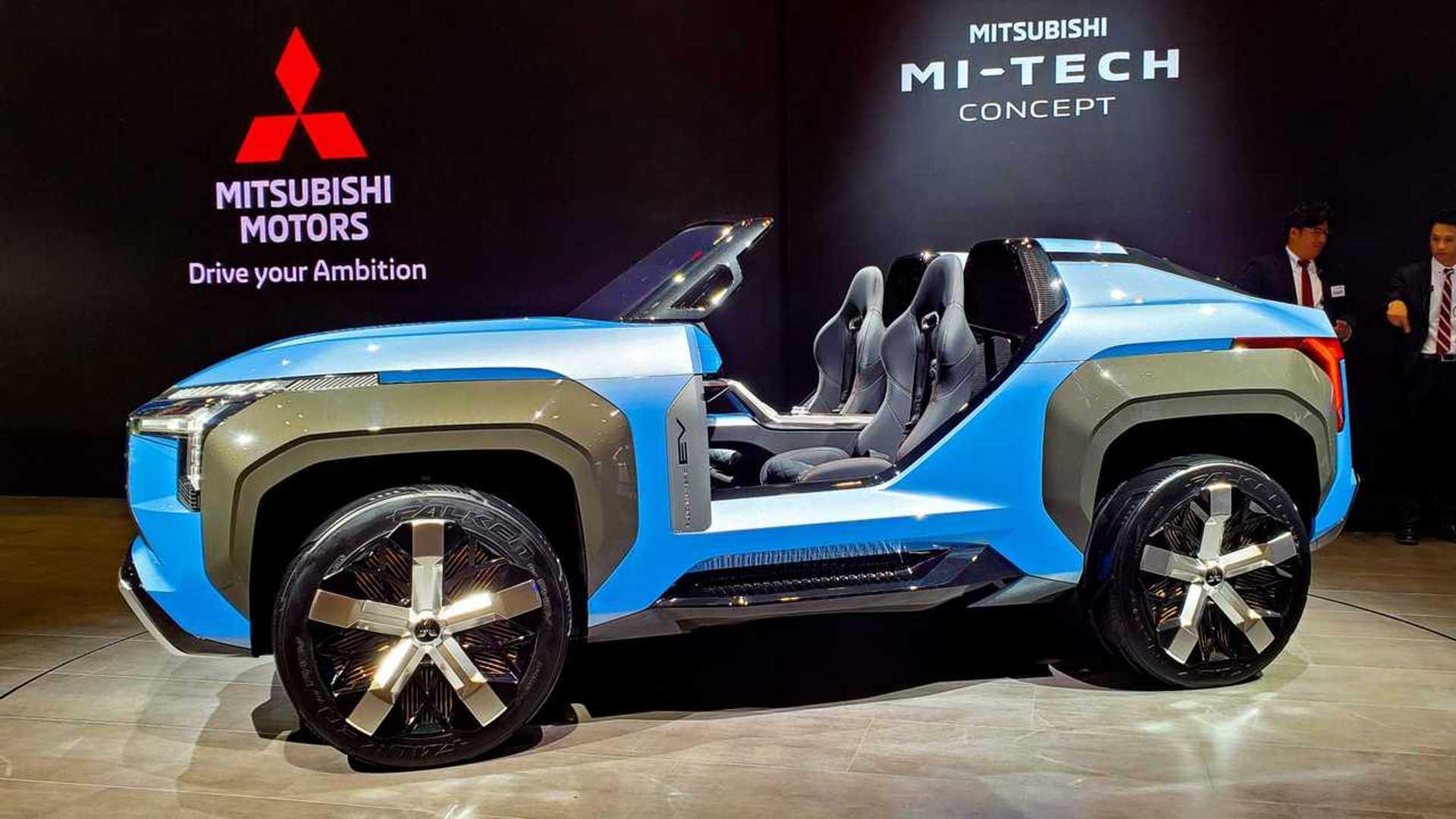 Mitsubishi Mi-Tech debuts as open-top SUV with gas turbine engine