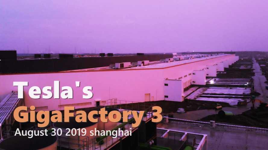 Tesla Gigafactory 3 Construction Progress August 30, 2019: Video