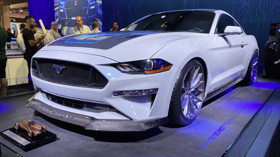 Ford Mustang Lithium EV Shocks SEMA With 900 HP, Six-Speed Manual