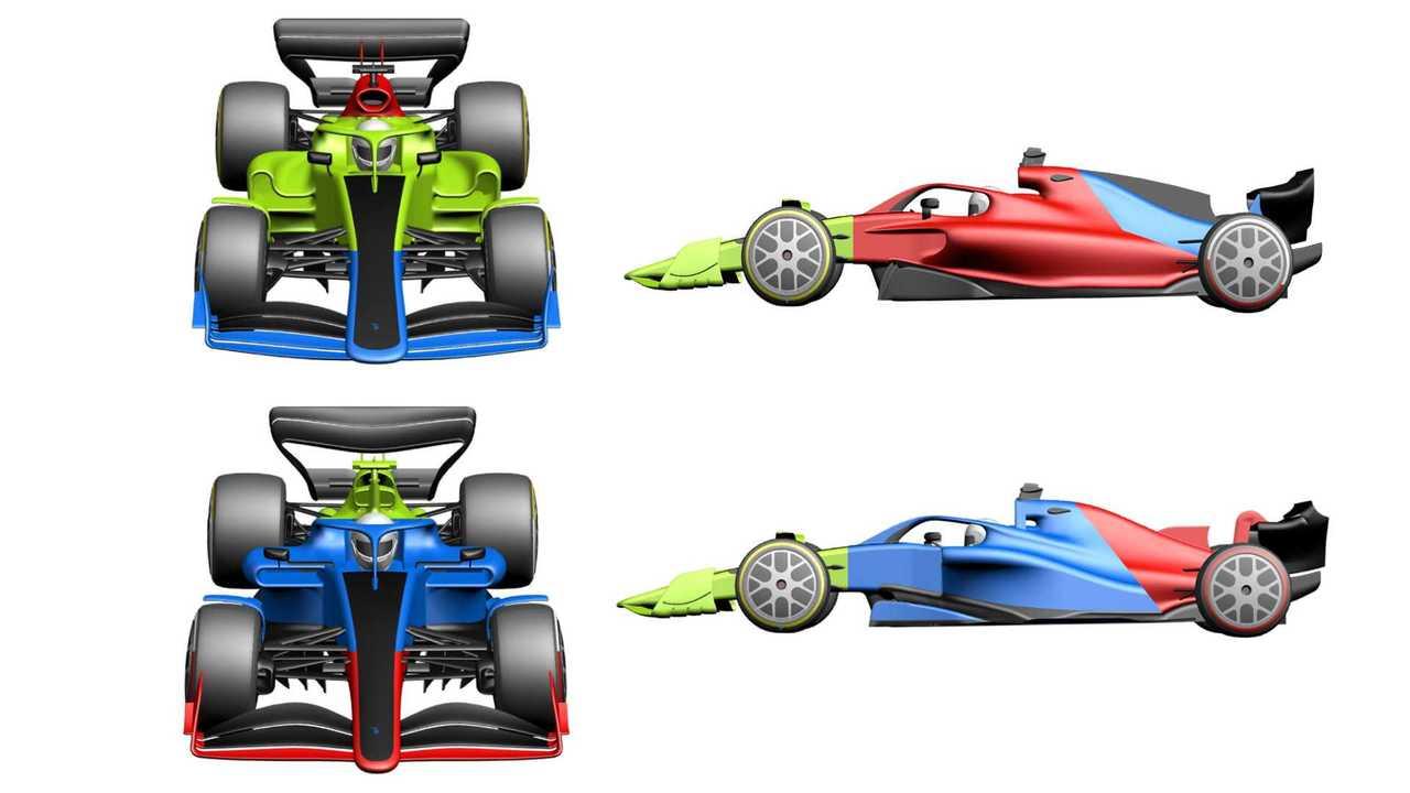 2021 Formula 1 rules car rendering (2019)