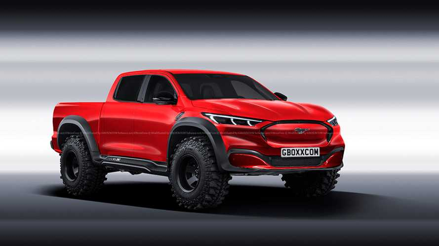 Ford Mustang Mach-E Pickup Truck Rendered Into View