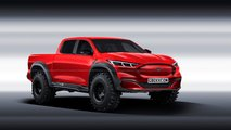 mustang mach e pickup rendering