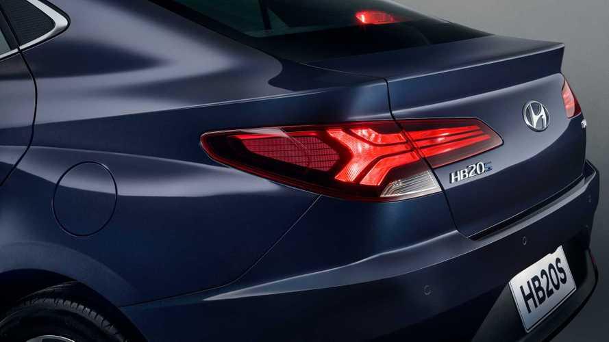 Novo Hyundai HB20S 2020 tem imagem da traseira
