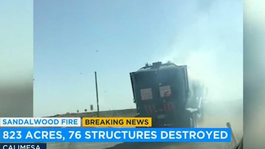 Kaliforniya'daki yangının sebebi bu kamyon sürücüsünün hatası olmuş