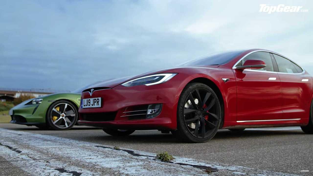 Top Gear, Tesla Model S vs Porsche Taycan