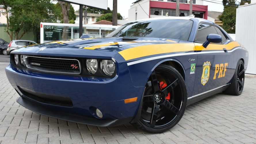 Dodge Challenger R/T apreendido vira viatura da Polícia Federal