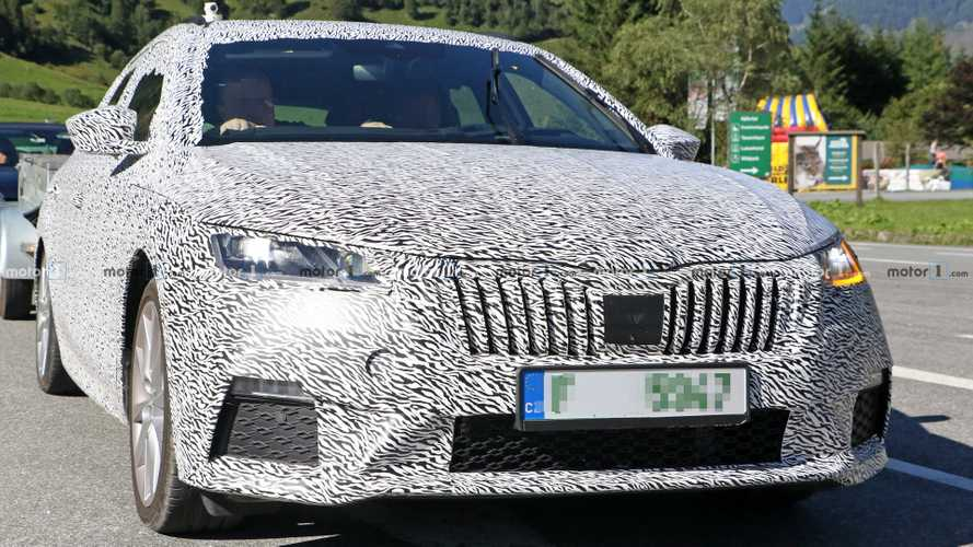 2021 Skoda Octavia RS estate spy photos