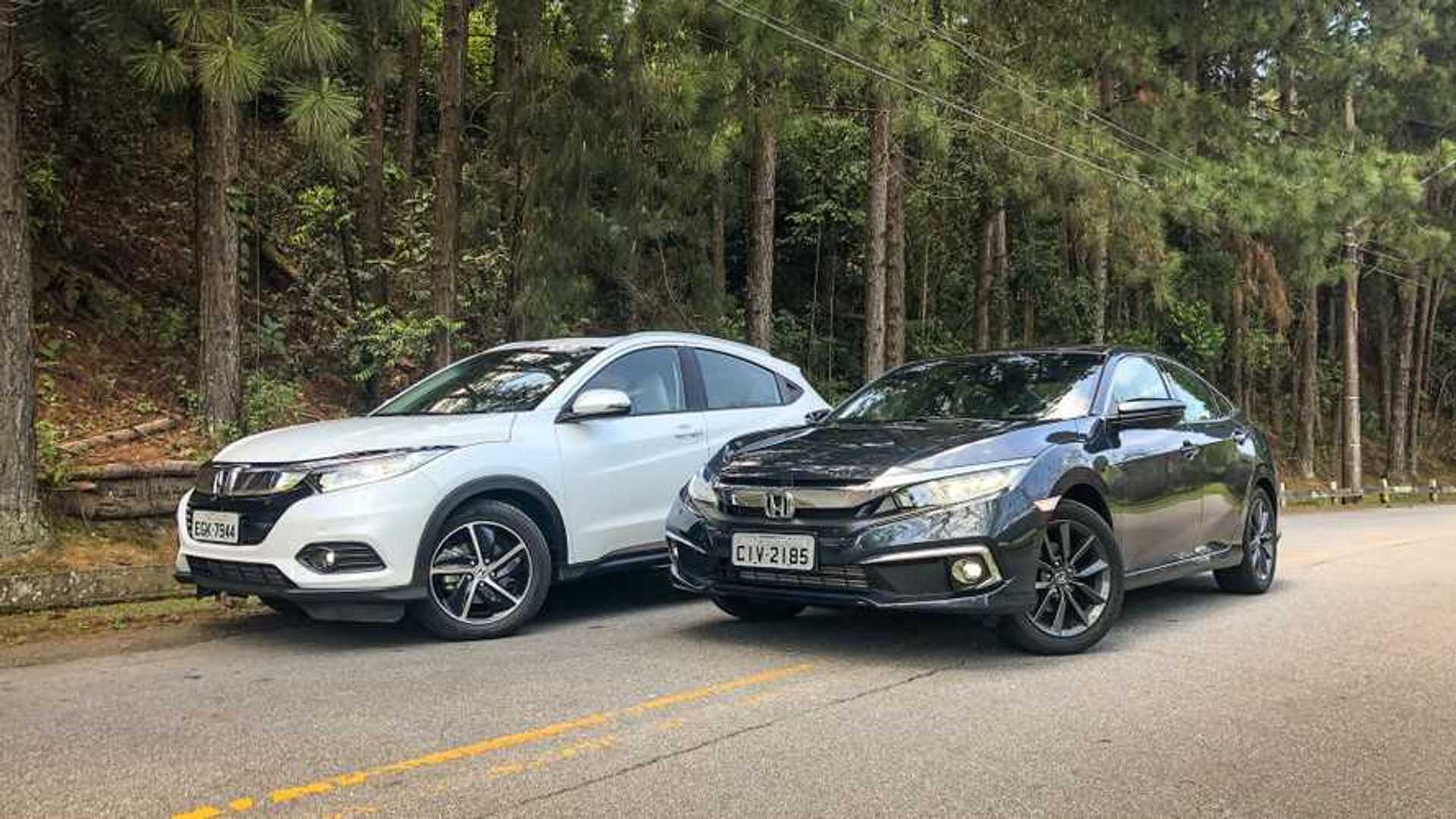 Semana Motor1.com: HR-V x Civic, novos Golf e City, Hilux V6 e mais