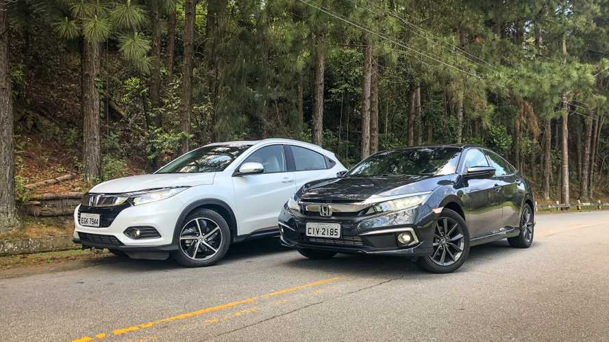 Semana Motor1.com: HR-V x Civic, novos Golf e City, Hilux V6 e mais