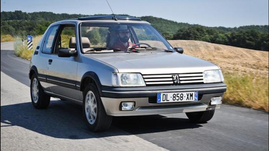 Peugeot storiche, la prova su strada delle piccole cattive