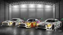 #50 Riley Motorsports Mercedes AMG GT3, #75 SunEnergy1 Riley Motorsports Mercedes AMG GT3, #33 Riley Motorsports Mercedes AMG GT3