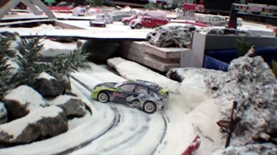 Snowy Slot Car Racing Is The Closest Spain Gets To Winter Racing