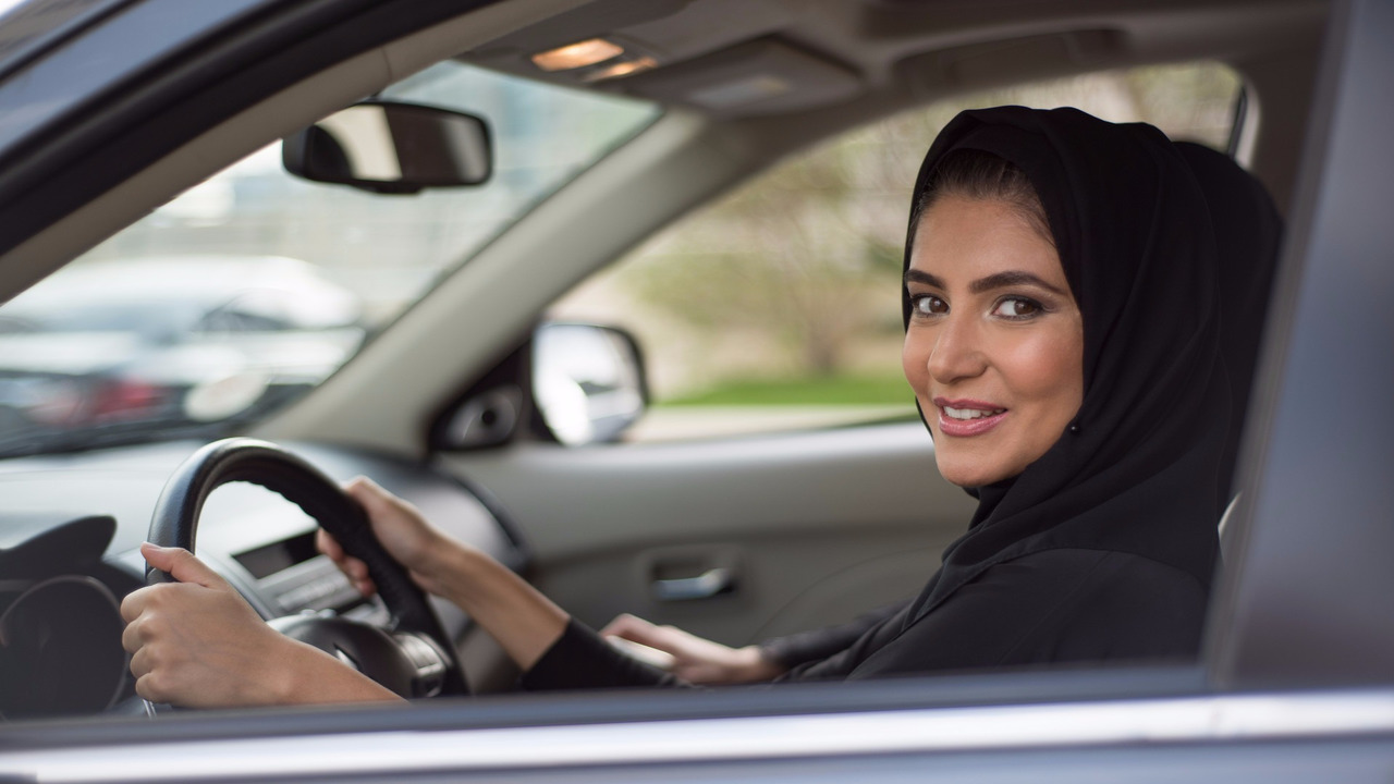 Female driver, Saudi Arabia
