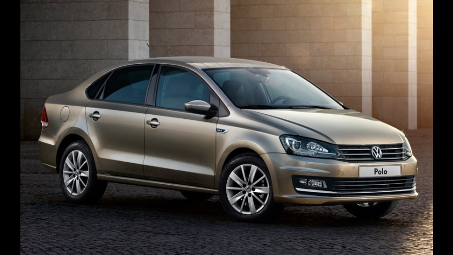 VW retoca visual do Polo Sedan na Rússia, apesar do colapso do mercado