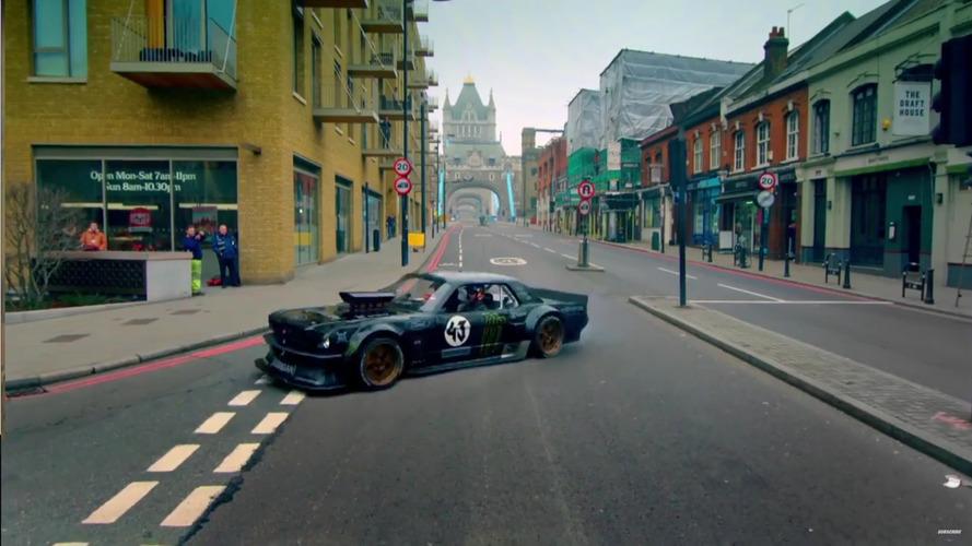 Ken Block et sa Mustang dans les rues de Londres