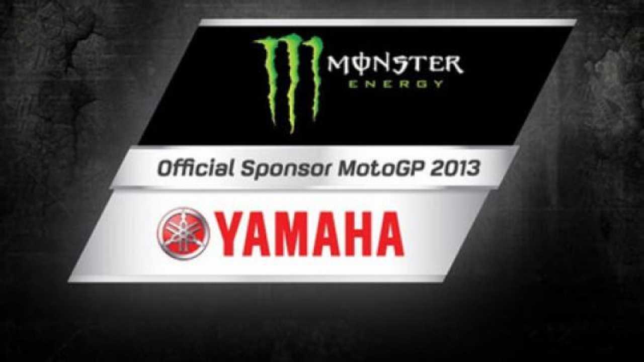 MotoGP 2013: Monster Energy è lo sponsor di Yamaha