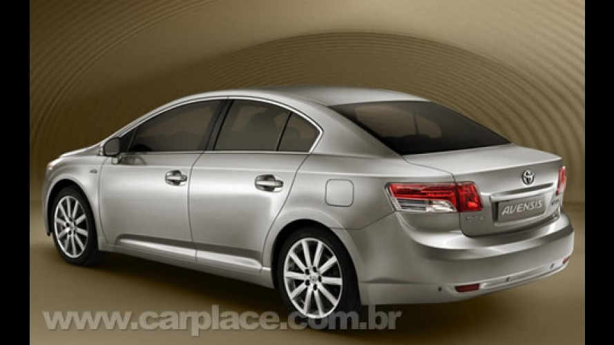 Toyota divulga a primeira imagem oficial da nova geração do sedan Avensis