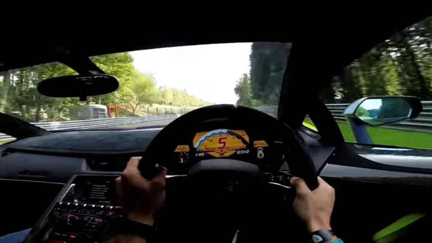 Aventador ile SPA'da bir tur