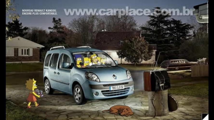 Carro família: Os Simpsons estrelam campanha do novo Renault Kangoo