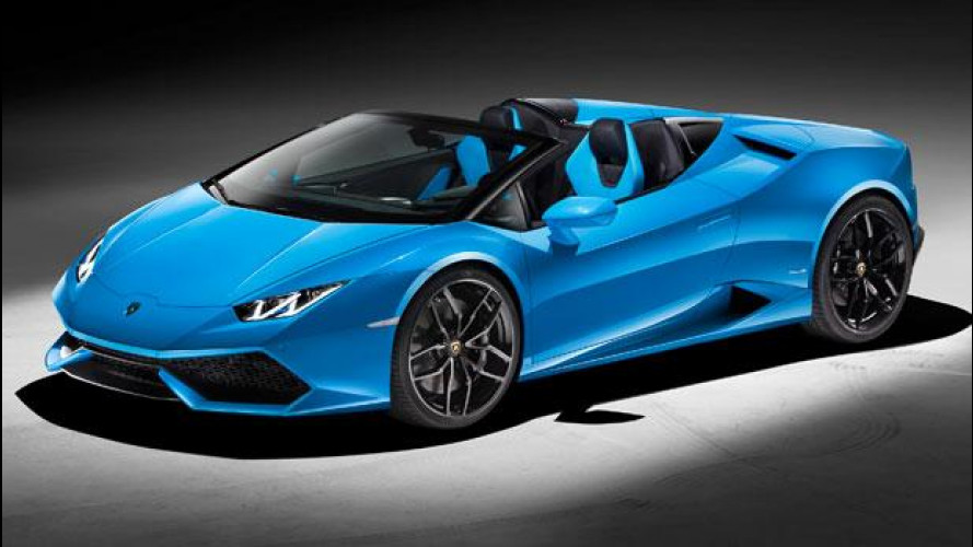 Lamborghini Huracan Spyder, spettacolare scoperta